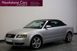 Audi A4 1.8T Sport + FULL BLACK LEATHER + LOW MILEAGE + FSH, Manual, Convertible, 2004 04 Reg,