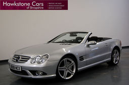 Mercedes-Benz SL Class SL350 Sport Edition Tip Auto 3.5 + AMG KIT + COMMAND + FULL BLACK LEATHER + PAN ROOF, Convertible, Petrol, 2008 08 reg,