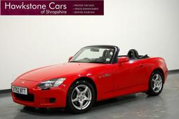 Honda S2000 2.0i VTEC [240] 2Dr [Alarm] + FSH + FULL BLACK LEATHER + XENONS, Manual, Convertible, Petrol, 2000 X Reg,